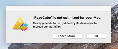 32 bit app warning message mac