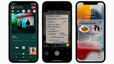 ios15 shareplay live text notification summary