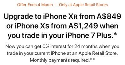iphone trade up promotion australia