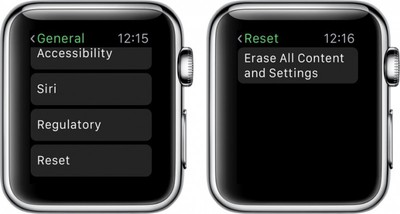 Apple Watch Erase All Settings