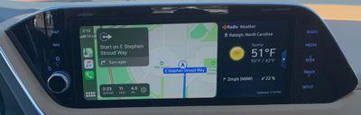 sonata carplay maps weather