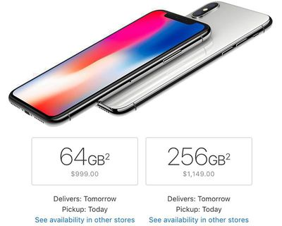 iphone x next day delivery