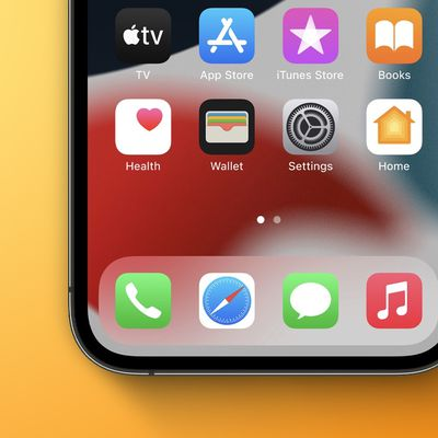 ios 15 home screen icons yellow