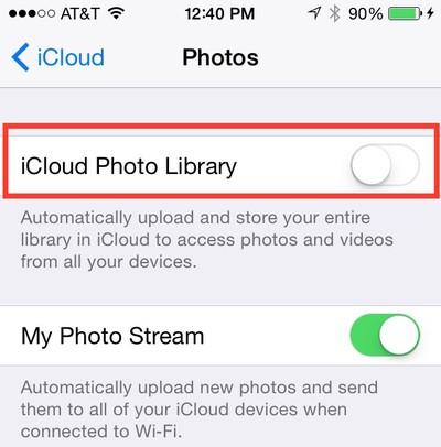 iCloud Photo Library 3