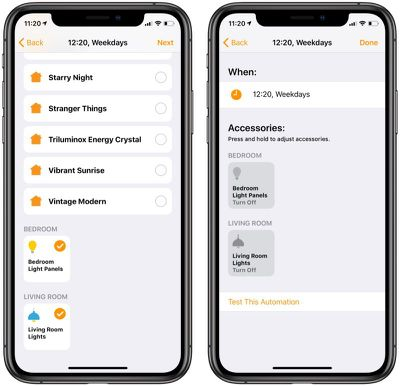 create homekit automations based on time of day 1