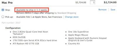 quad core mac pro 1 3 weeks