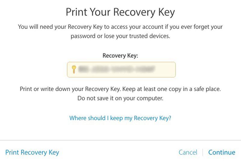 Apple-ID-recovery-key