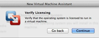 vmware licensing verification box