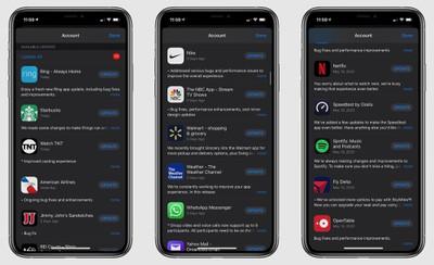 app store old updates
