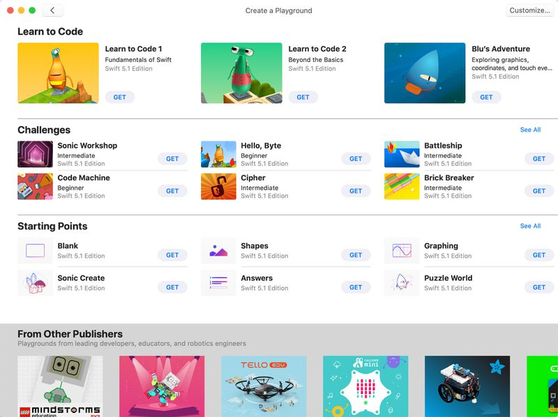 Apple Releases Swift Playgrounds App for Mac
