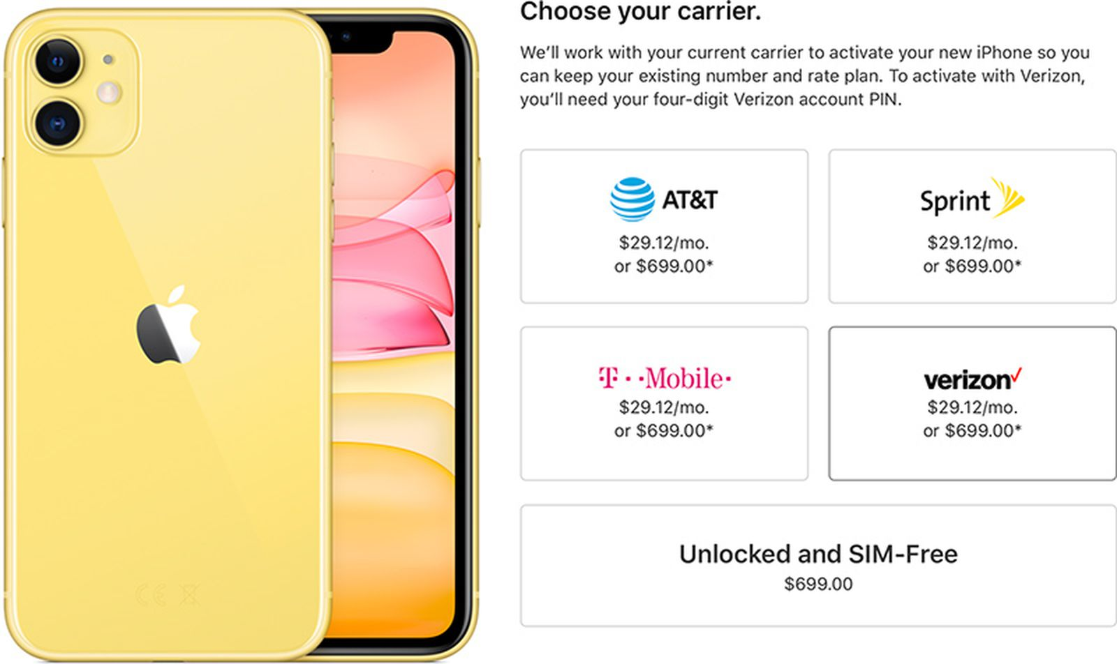 Iphone 11 And 11 Pro Available Unlocked At Launch Day Applecare