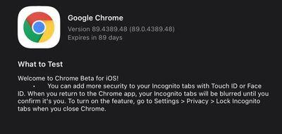 chrome beta incognito authentication