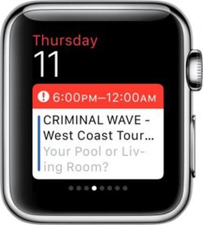 Apple Watch Calendar Glances