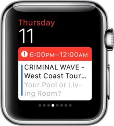 Apple Watch Calendar Glances
