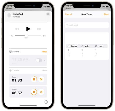 home app timer management