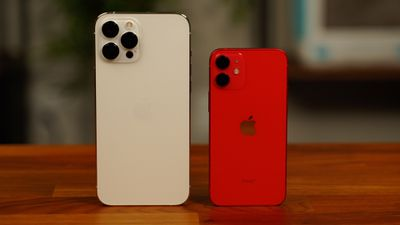 iphone 12 mini pro max side by side