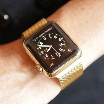 Goldplated Apple Watch