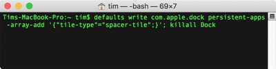 macos terminal dock spaces