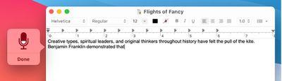 keyboard dictation