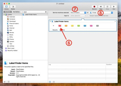 4 Create Finder Label action