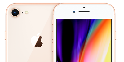 iphone 8 gold top trans