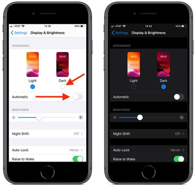 how to enable dark mode in ios 13 1