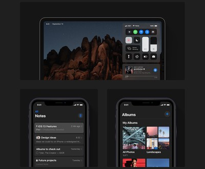 ios 13 dark mode concept 1