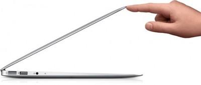 macbook air open finger