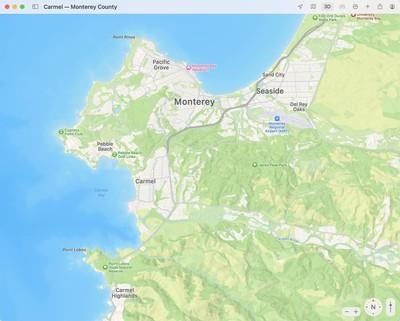 maps monterey terrain