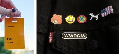 wwdc 2018 badges pins