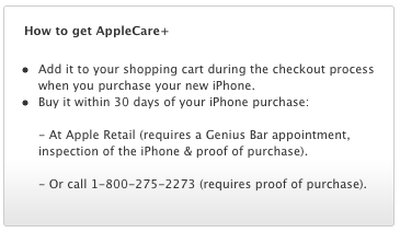 how to get applecare