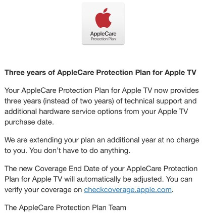 apple care apple tv