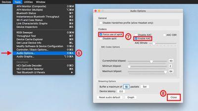 Bluetooth Utility codec enable