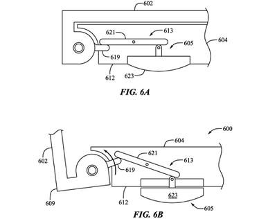 macbook pro distributable feet patent mechanical