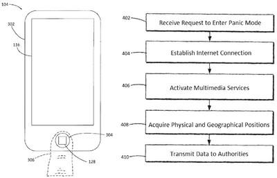 panic mode patent iphone