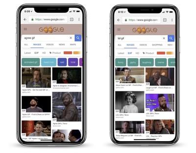 google chrome ios gif search