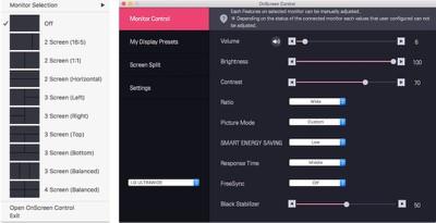 lg 38uc99 onscreen control