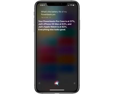 siri powerbeats pro battery life info