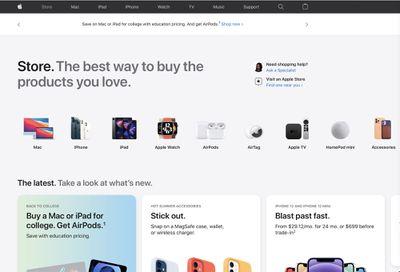 apple store website