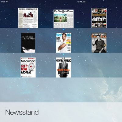 newsstand ios 7