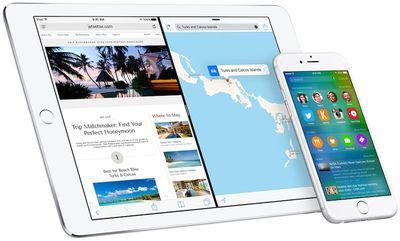 ios 9 ipad iphone
