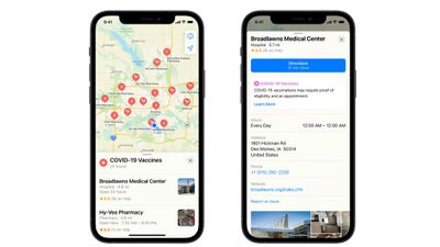 apple maps vaccinations