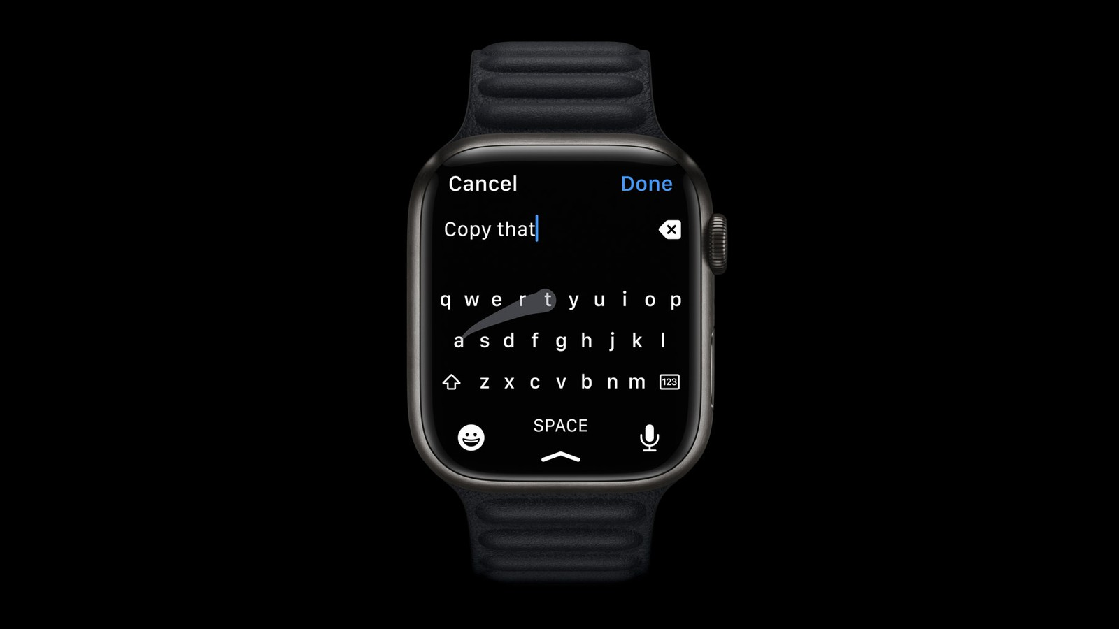 Apple Watch Series 7's larger screen allows for a full ...