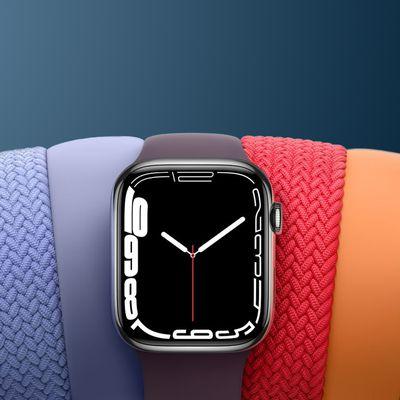 Apple Watch Series 7 Rainbow Crop Blue