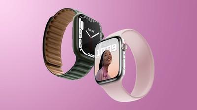 Apple Watch Series 7 ροζ και πράσινο χαρακτηριστικό