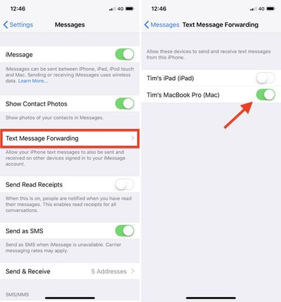 how to text message forwarding 2