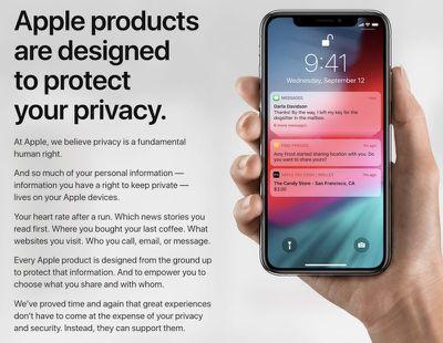 apple privacy site