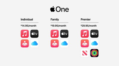 Apple One bundle includes Apple Music, Apple TV+, Apple Arcade and more