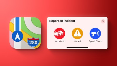 apple map reports incident red