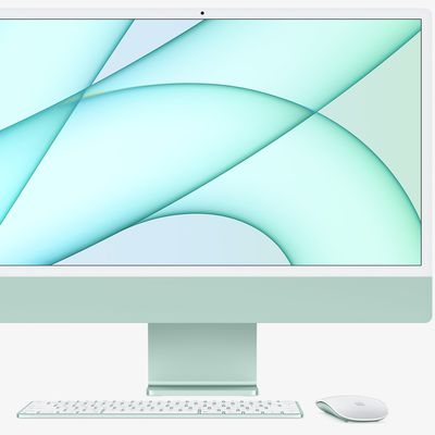 imac with accessories